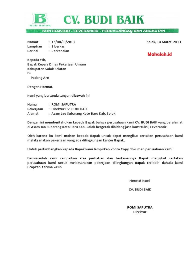 Surat Perkenalan Perusahaan: Contoh Surat dan Format ...