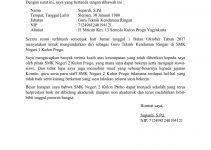 Contoh Surat Pengunduran Diri Dari Sekolah