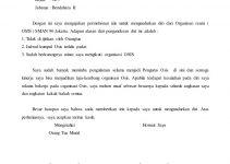 Surat Pengunduran Diri Organisasi