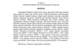 Contoh Abstrak Skripsi Fakultas Peternakan