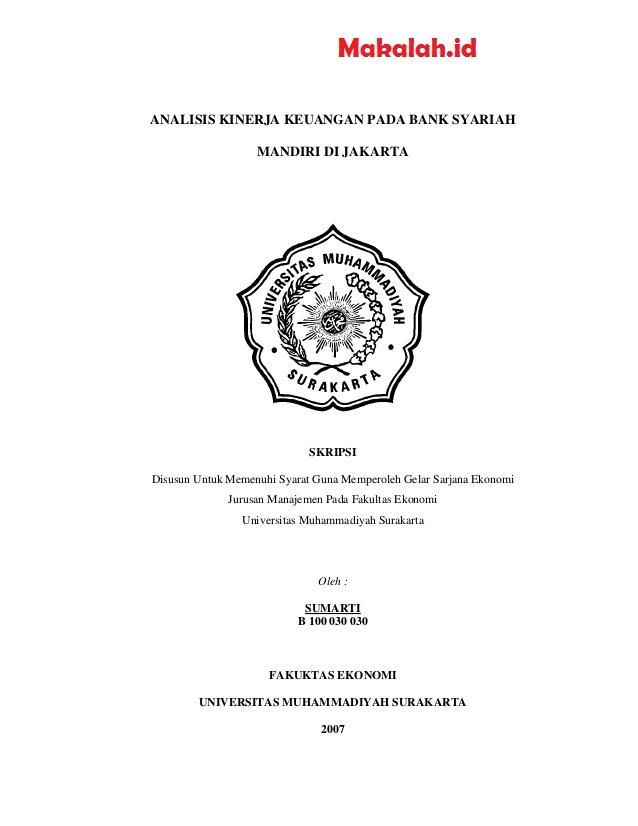 Contoh Tesis Ekonomi Islam Contoh Soal Dan Materi Pelajaran 2