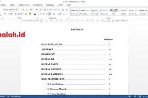 Cara Membuat Daftar Isi Di Word
