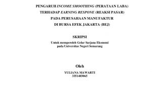 Contoh Proposal Skripsi Akuntansi