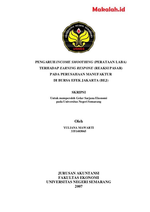 Contoh Skripsi Akuntansi Perpajakan Contoh Soal Dan Materi Pelajaran 8