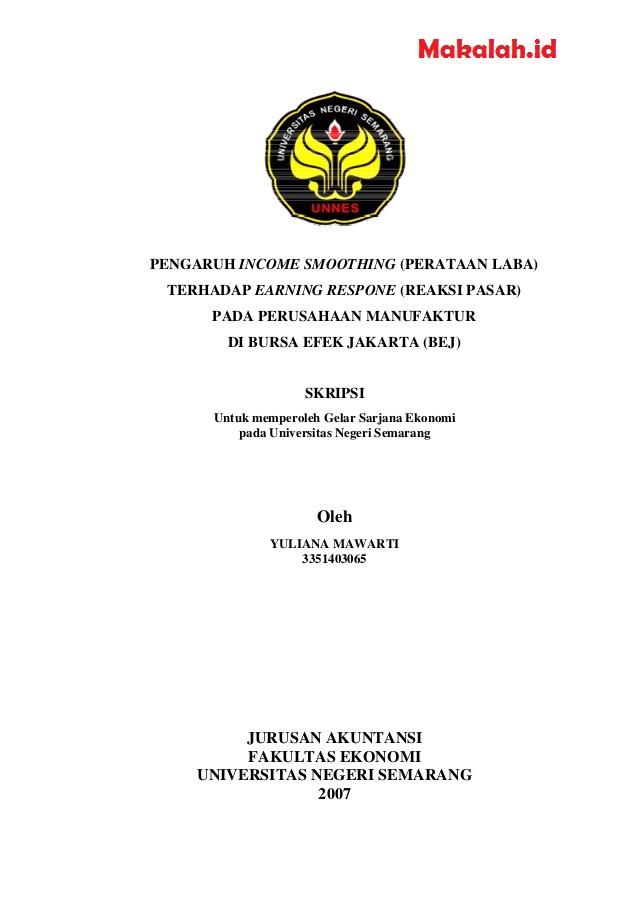 Contoh Skripsi Akuntansi Sektor Publik