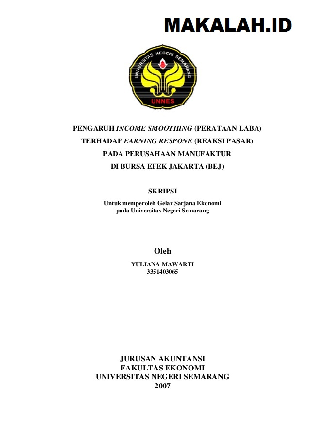 Contoh Skripsi Akuntansi Keuangan Yang Mudah Contoh Soal Dan