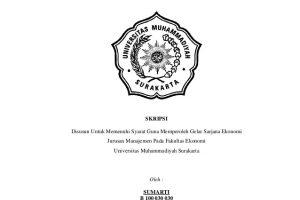 Contoh Skripsi Ekonomi Syariah