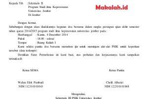 Contoh Surat Peminjaman Tempat