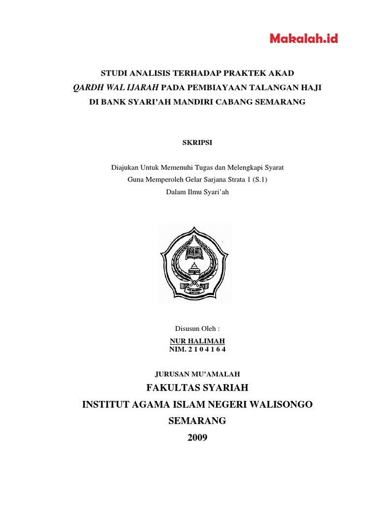 Contoh Tesis Hukum Ekonomi Syariah Contoh Soal Dan Materi