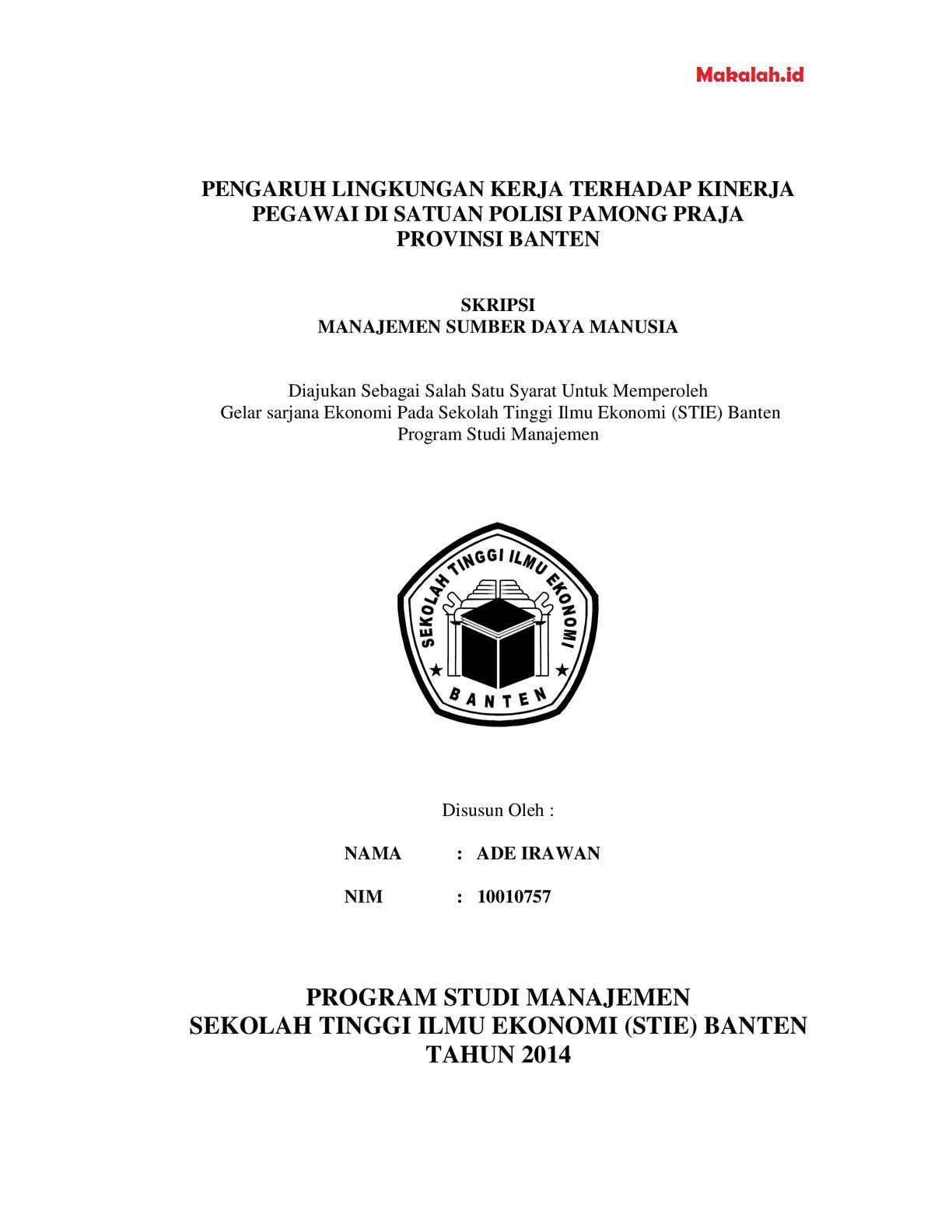 Contoh Skripsi Akuntansi Keuangan 3 Variabel Contoh Soal Dan