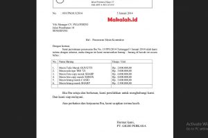 Surat Penawaran Barang Elektronik